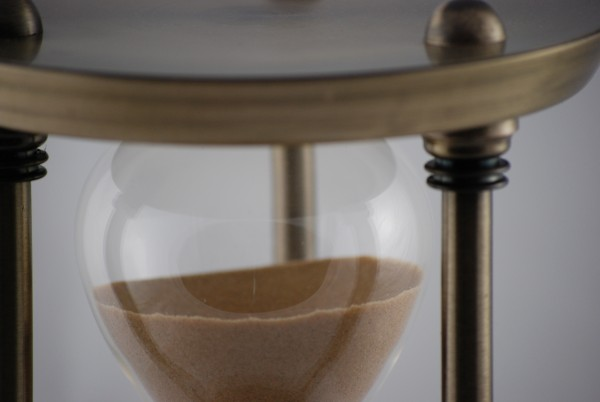 Tolle Messing Sanduhr 20 Minuten brauner Sand