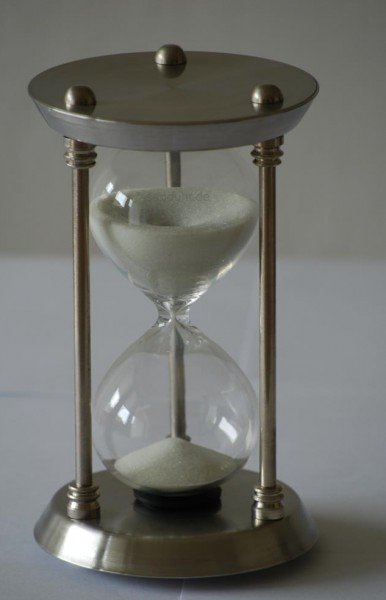 15-Minuten-Sanduhr Edelstahl Restbestand